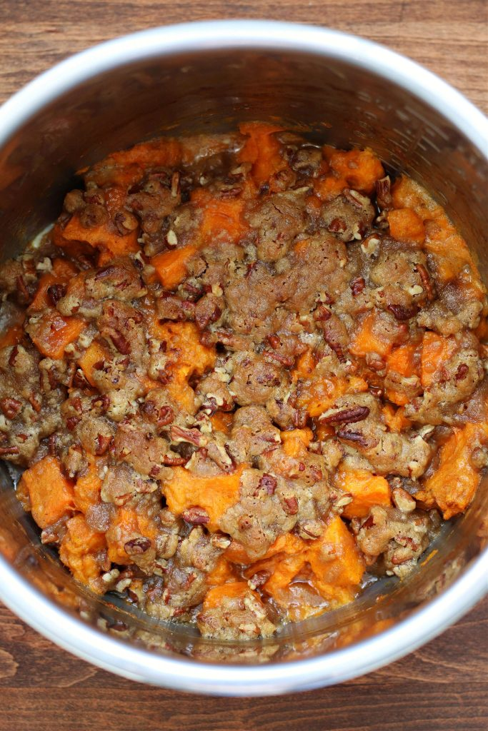 Instant Pot praline sweet potato casserole
