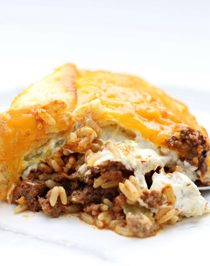 beef and rice biscuit casserole recipe