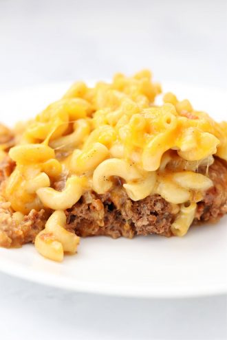 Mac and Cheese Meatloaf Casserole
