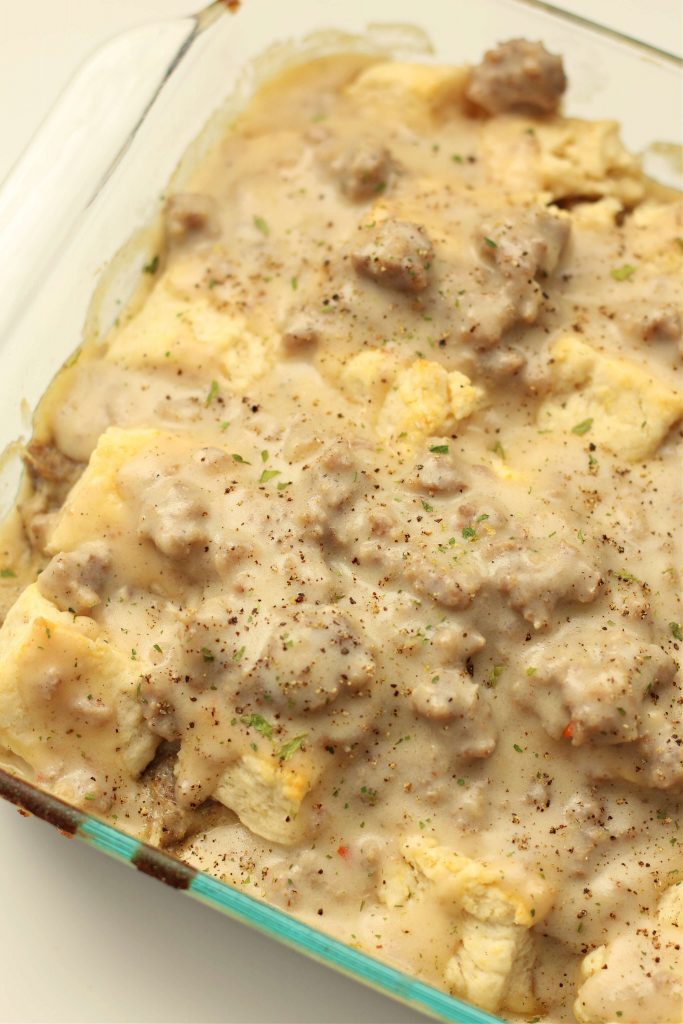 Instant Pot Biscuits and Gravy Casserole