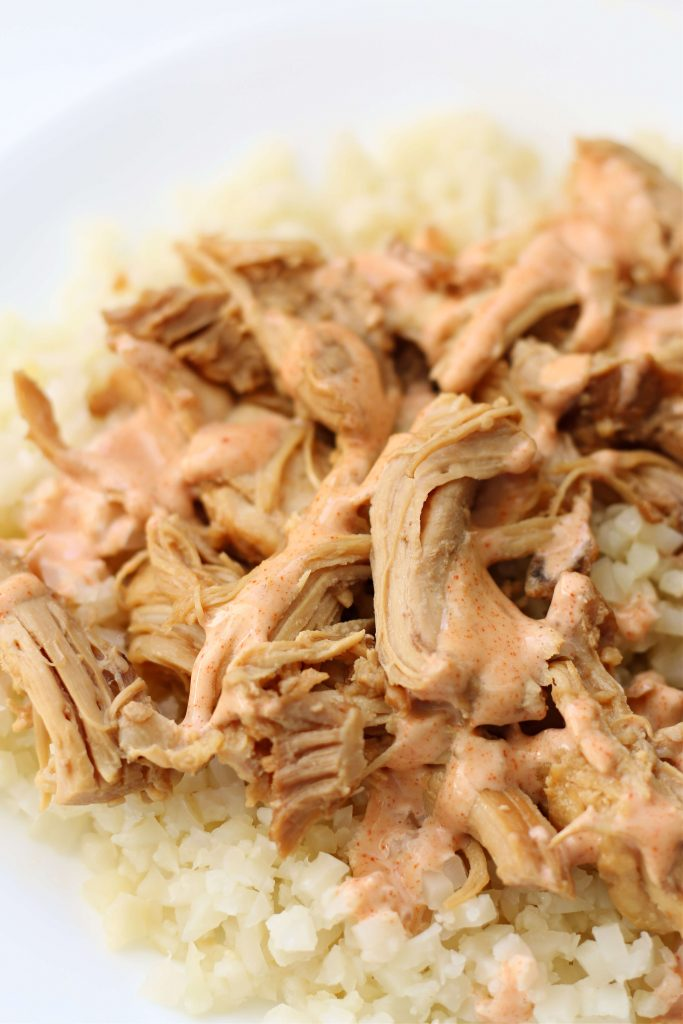 Instant Pot chicken with homemade yum yum sauce and rice